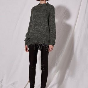 Topshop Boutique Laddered Knitted Sweater sz 2